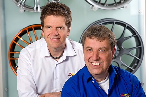 Die Inhaber und Geschäftsführer Joachim Hirschkorn und Burkard Zink (v.l.)
