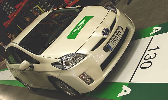 Der Prototyp-Reifen von Nokian rollt 130 Meter, 50 Meter weiter als ein guter Eco-Reifen      Foto: Nokian Tyres
