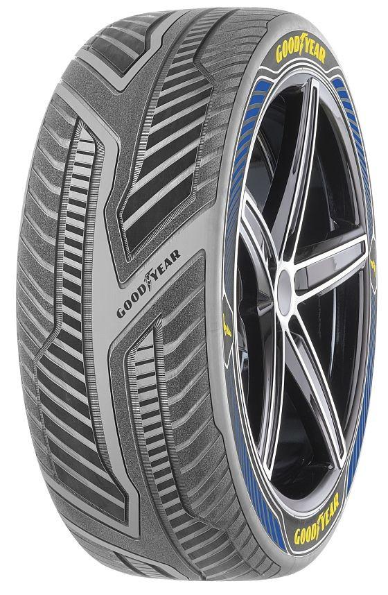 Der Goodyear IntelliGrip ist ein erster Aufsehen erregender Konzept-Reifen für selbstfahrende Autos (Foto: Goodyear)